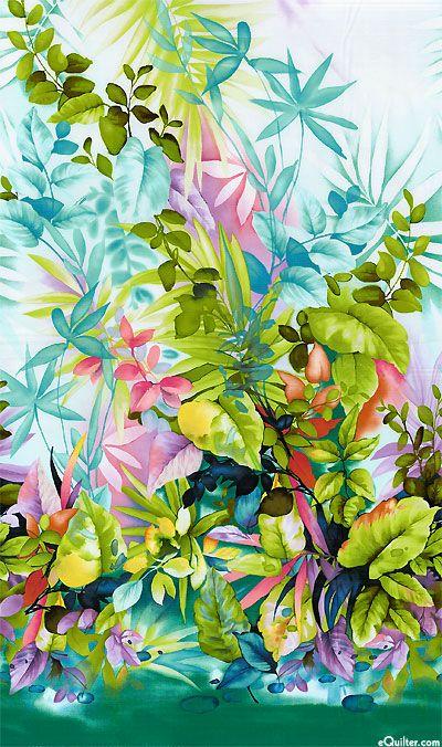 Paradise Island - Tropical Watercolor - Sea Mist