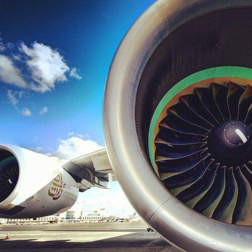 Fly emirates my reflection