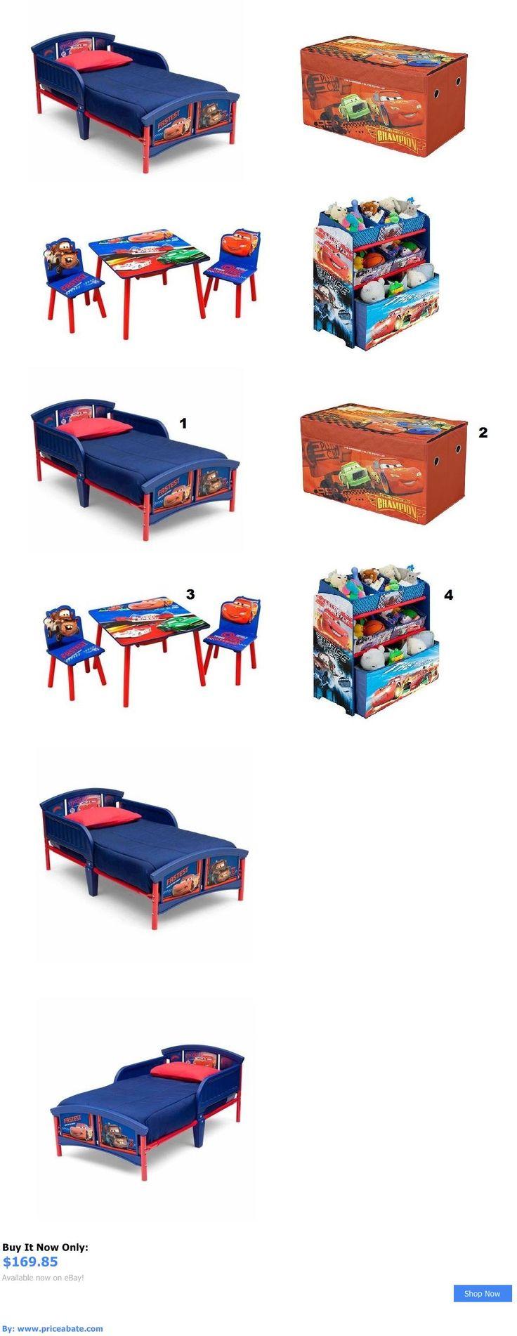 Kids Furniture New Disney Cars Bedroom Furniture Set Room Toddler Bed Table Storage Toy Bin