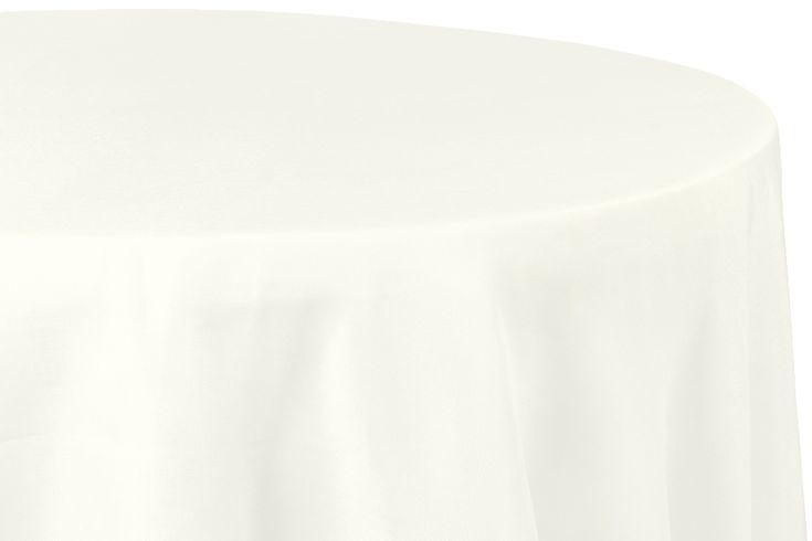 """Faux+Burlap+Tablecloth+120""""+Round+-+Ivory"""