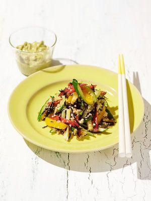 【ELLE a table】はと麦とひじきの和え物 キウイソース添えレシピ|エル・オンライン