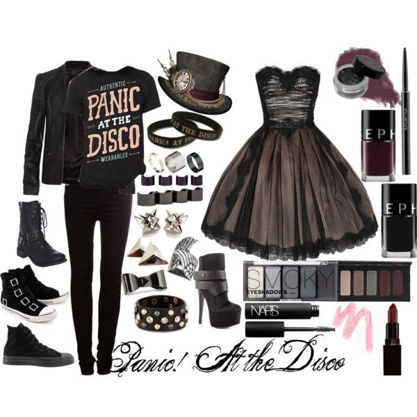 """Panic! At the Disco"" by amr3always on Polyvore I would so wear this outfit!! It's perfect :3 <33"