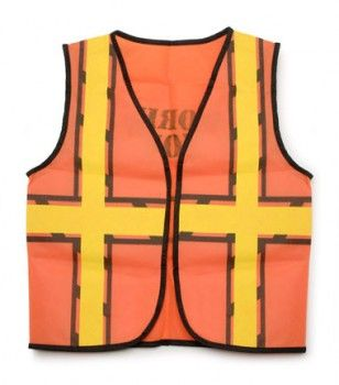 Construction work vest for construction theme birthday party... (someone mentioned these are available at the Dollar Store!)