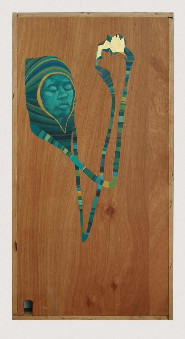 ► Shelley Krycer painting ► 'Float' ► acrylic on timber