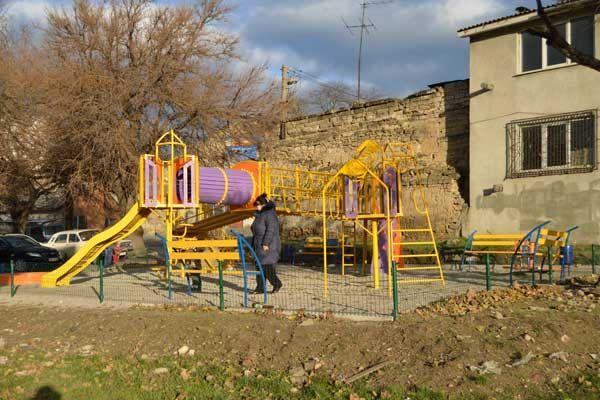 Большая детская игровая площадка Еlephant. ул.Балковская, угол Старосенная. Одесса.