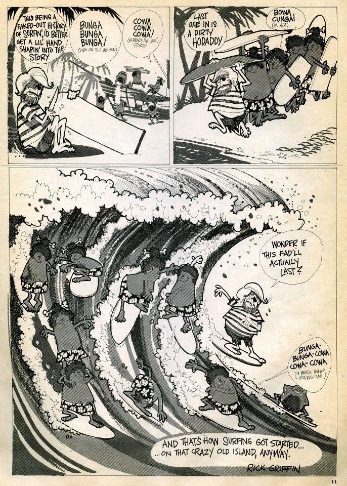 Surftoons by Rick Griffin 1965