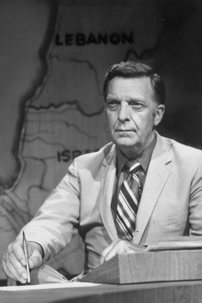 """Chet"" Huntley (1911 - 1974) Co-anchor of the TV news program ""The Huntley-Brinkley Report"" on NBC"