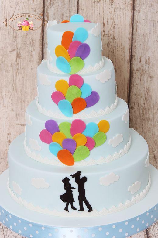 Torturi de vis: Tort nunta și botez cu baloane