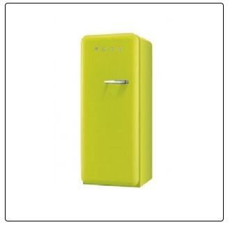 APFELGRÜN smeg Standkühlschrank mit Gefrierfach, FAB28LVE1 apfelgrün Linksanschlag A++