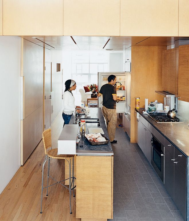 In The Kitchen The Architects Contrasted The Oak Floor