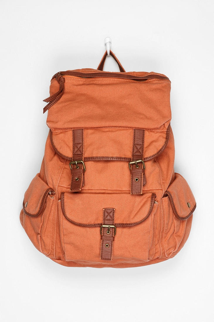 Canvas backpack; ecote.