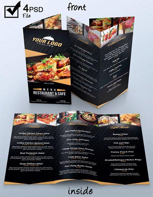 40 best menues images on Pinterest Menu templates, Print - restarunt brochure