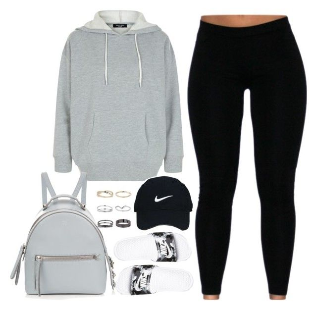 """I'ma rock the boat, work the middle til' it hurt a little"" by cheerstostyle ❤ liked on Polyvore featuring Miss Selfridge, New Look, Fendi, Nike Golf and NIKE"