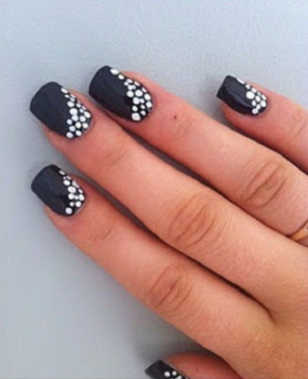 Painting Polka Dot nails - In painting Polka Dot nails, start off with the regular base color. You can choose any of your likings. You can even opt for a clear base color if that goes with the design or color combination that you have in mind. Before doing anything else, leave the coat to dry.