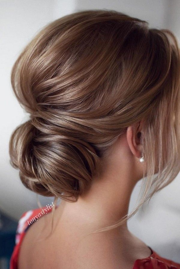 15 Stunning Low Bun Updo Wedding Hairstyles From Tonyastylist Emmalovesweddings Hair Styles Medium Hair Styles Medium Length Hair Styles
