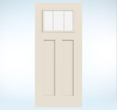 Exterior door for garage.  Smooth-Pro Fiberglass | JELD-WEN Doors & Windows