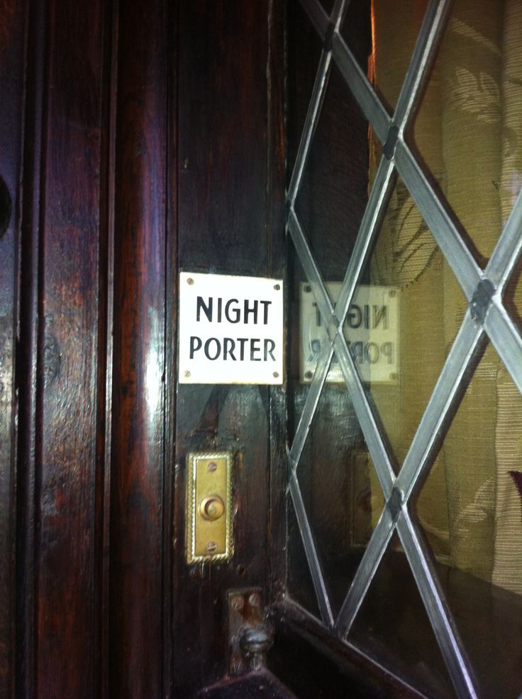 Ring for the Night Porter?