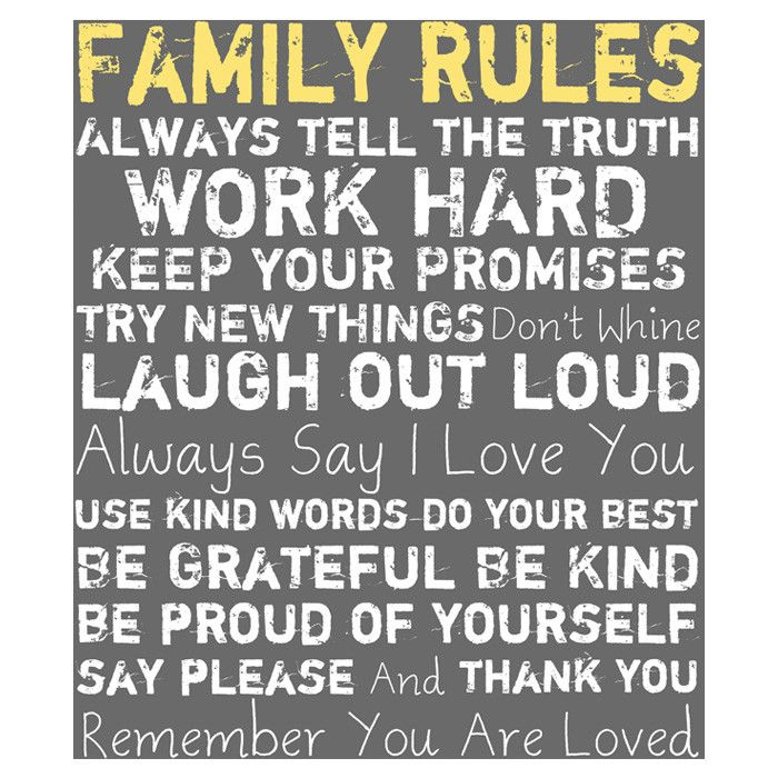 Use Kind Words :: Family Rules Canvas Art