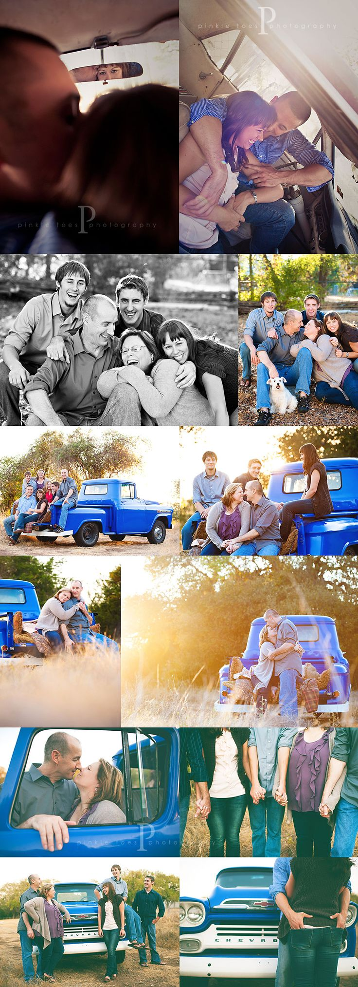 I want a country-like session with a vintage truck like this for our family someday. Such love. Michele from Pinkletoes Photography.