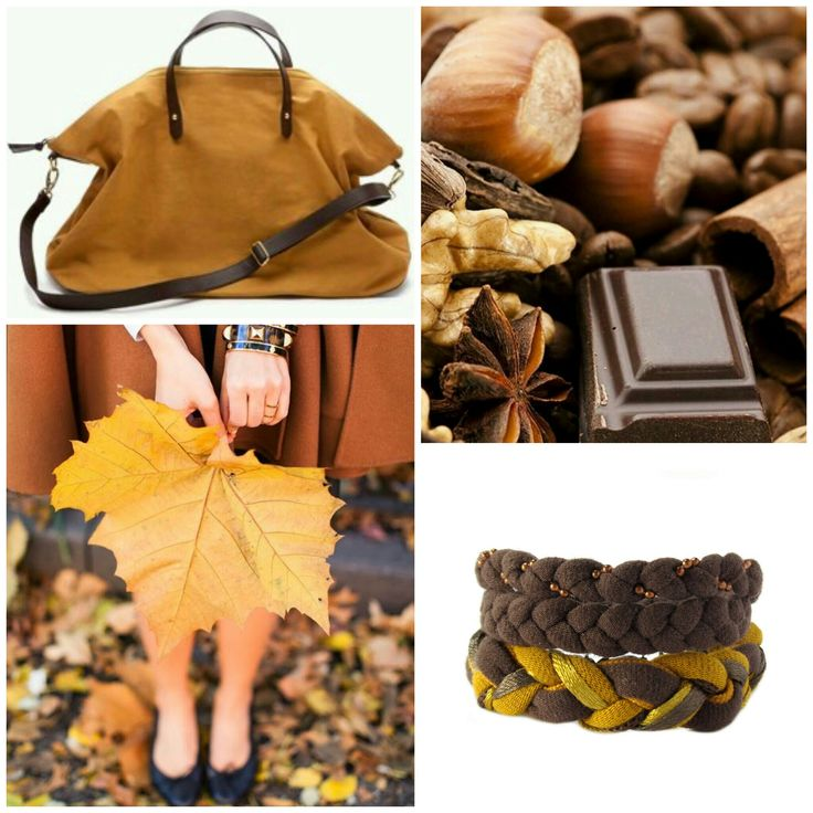 Brown and Mustard #beinspired #brown and #mustard  http://etsy.me/2fNzYiC #autumncolors #autumn #recycleyourtshirt #bracelet #handmade #etsysellers #etsy #etsyshop #jewelry #giftforher #moodboard