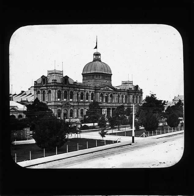 Exhibition Building, Adelaide, ca. 1885. by State Library of South Australia, via Flickr