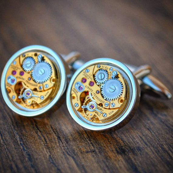 Girard Perregaux Watch Movement Cufflinks by JFoxCufflinks on Etsy  #cufflinks #suit #tie #shirt #horology #menswear #mensfashion #watchmovementcufflinks #mensaccessories #men #gentleman #dapper #sartorial #debonair #vintagecufflinks #steampunkcufflinks #steampunk #retail #groom #luxury #weddingday #groomgift #timepiece #groomsmengift #dadgift #handmade #fashion #birthdaygift #wristwatch #style #watch #bestmangift #etsy #etsyshop #girardperregaux