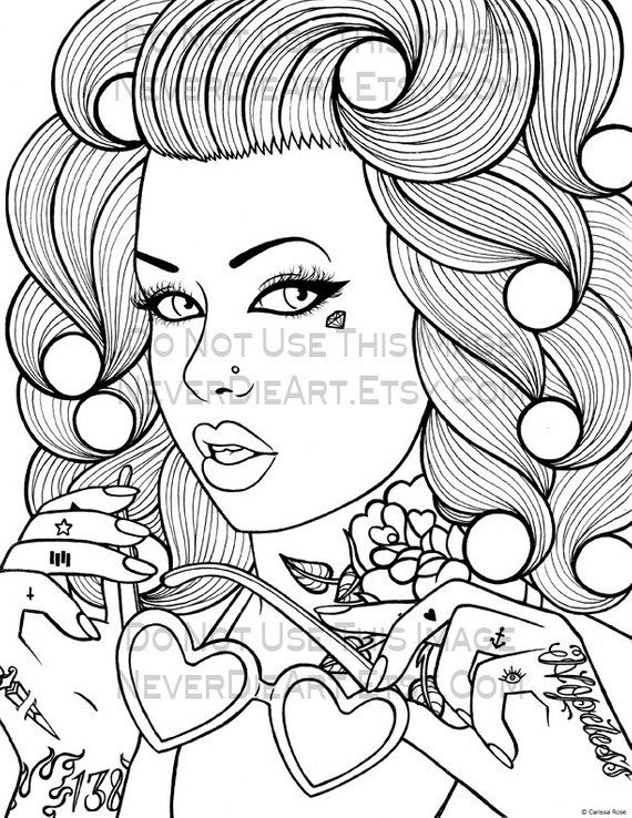 Digital Download Print Your Own Coloring Book Outline Page Etsy Coloring Pages Coloring Pages For Girls Coloring Books