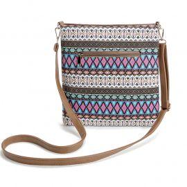 Bohemian style canvas bag for women messenger bags lady small vintage national crossbody shoulder bag