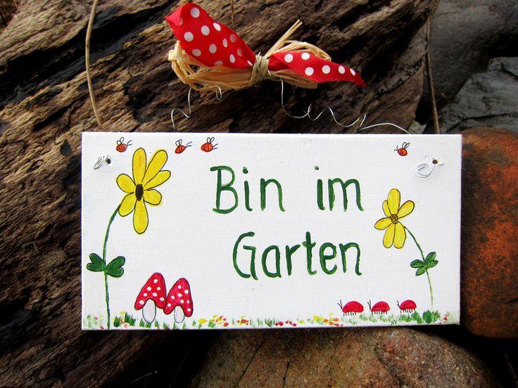 Türschild Garten // door sign garden via DaWanda.com