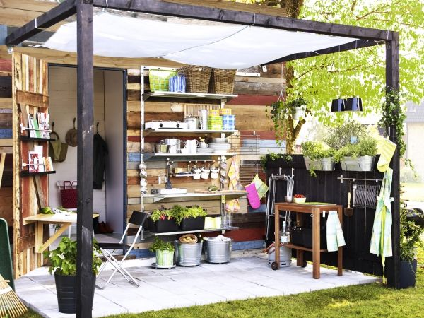 Make the most of any small backyard space with organization solutions  designed by IKEA.