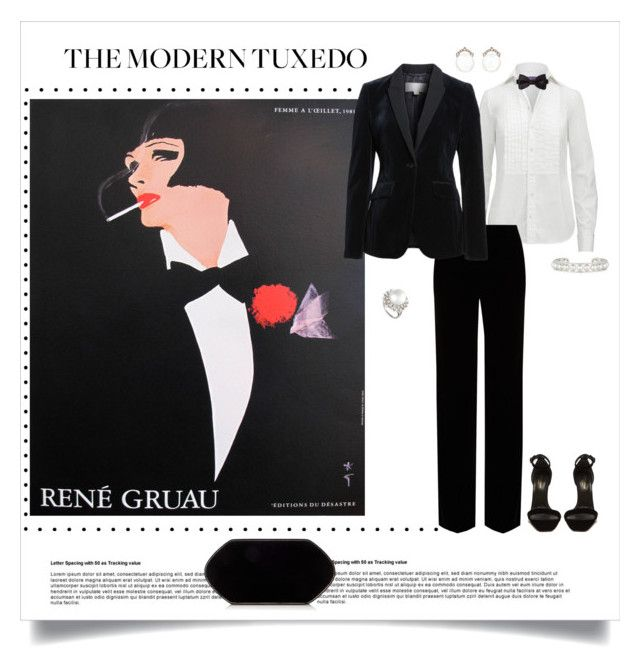 """The Modern Tuxedo"" by shoecraycray ❤ liked on Polyvore featuring Rene, Ralph Lauren Collection, Roberto Cavalli, Paul Smith, BOSS Hugo Boss, Yves Saint Laurent, Kataoka, Belpearl, Hunting Season and Barneys New York"