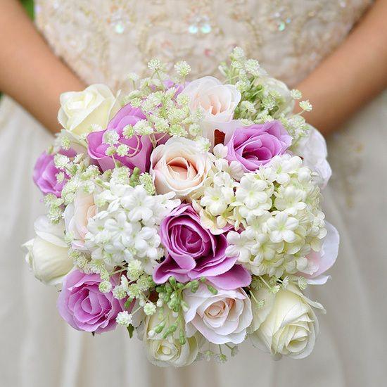 Oh le joli bouquet aux couleurs poudrées! - Happy Chantilly