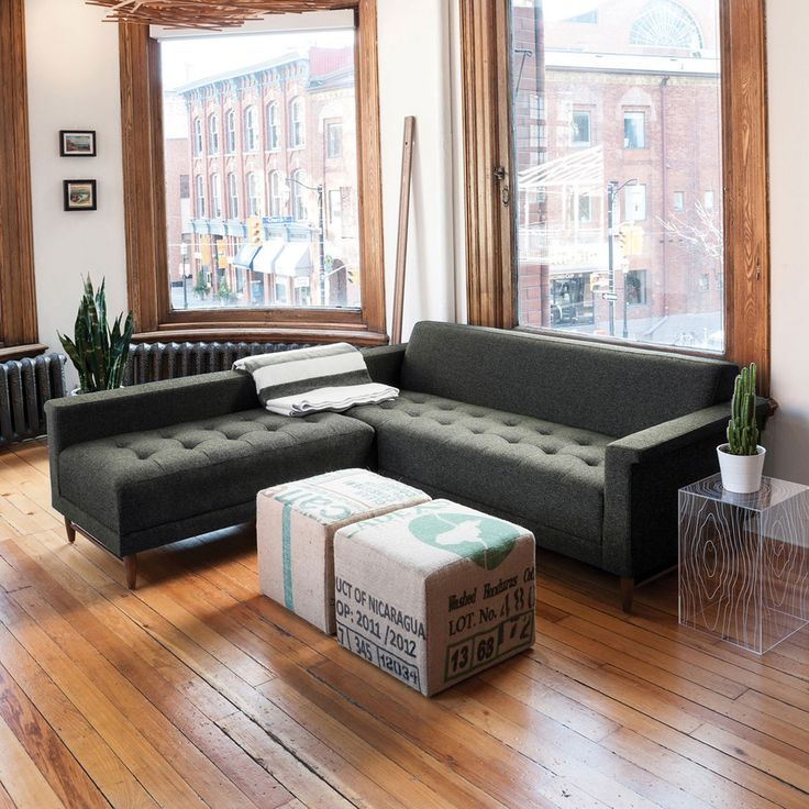 """Amazingly compact sectional for off the kitchen. W83.5""""xD78""""xH28"""". Harbord Loft Bi-Sectional 
