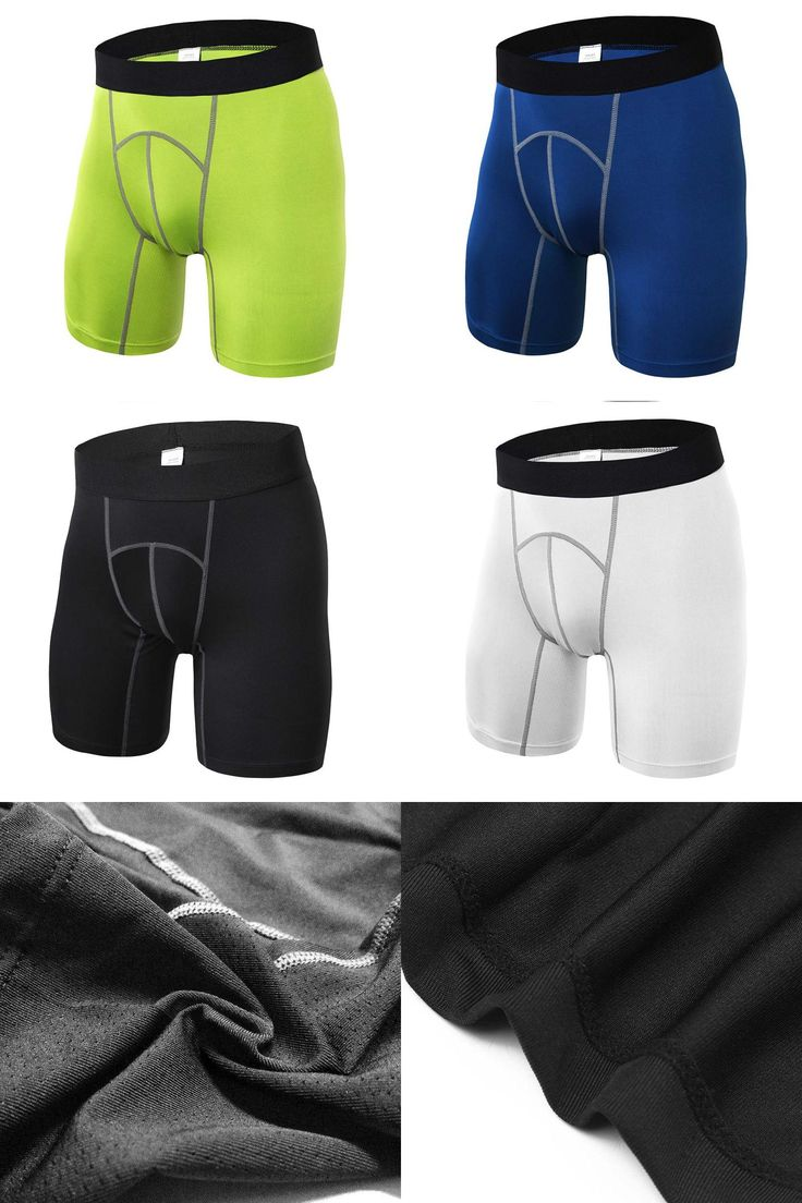 [Visit to Buy] 4 Colors Mallas Hombre Running Shorts Men Outdoor Sport Shorts Fitness Gym Workout Compression Base Layer Size S-2XL #Advertisement