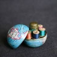 Vintage Globe Sewing Kit cute little gift for travellers and students                                                                                                                                                                                 More