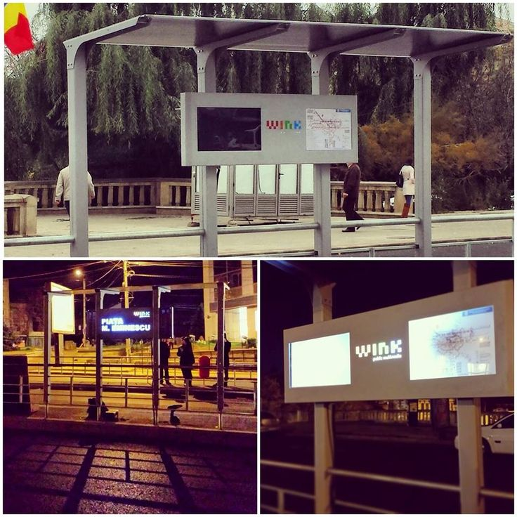 Wink's first city street furniture #busshelter @ Iasi, Romania