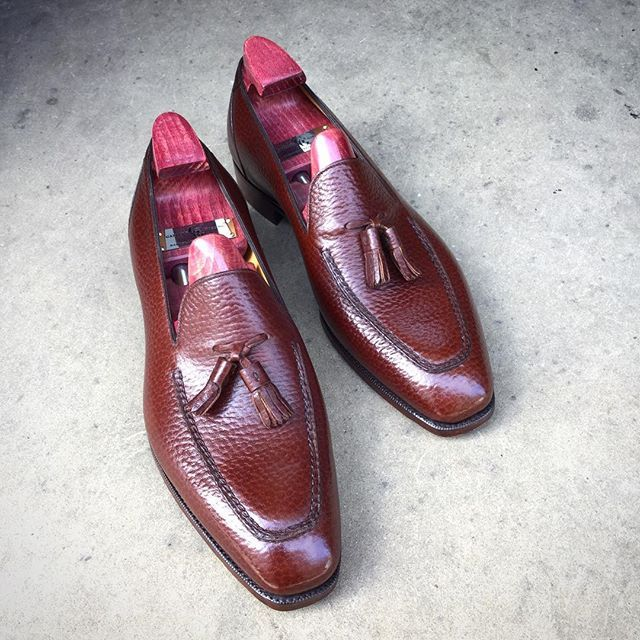 """Tassels! The """"Corniche"""" in chestnut English grain. Made to Order on the KN 14…"""