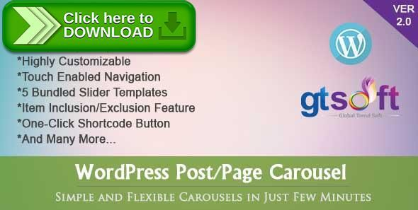 [ThemeForest]Free nulled download WordPress Post-Page Carousel from http://zippyfile.download/f.php?id=58573 Tags: ecommerce, carousel, custom Carousel, custom post carousel, custom post slider, fancy carousel, gts carousel, owl slider, page carousel, page slider, post carousel, post page carousel, post page slider, post slider, slider