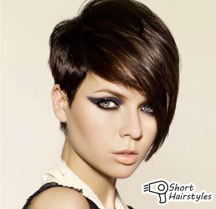 Short Haircuts For Brown Hair Woman 2014
