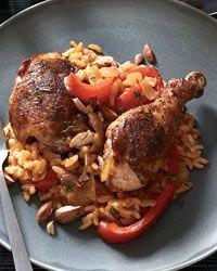 chicken sofrito: Chicken Dinners, Chicken Recipes, Maine Dishes, Chicken Sofrito, Chicken Dishes, Food, Sofrito Recipe, Chicken Legs, Recipe Chicken