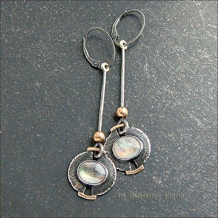 Серьги с лунным камнем - Strukova Elena - авторские украшения