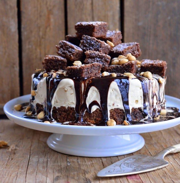 Franciskas Vakre Verden: Overdådig brownie-iskake