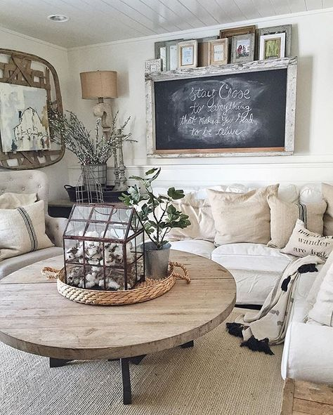 Vintage French Soul ~ Pin For Later: Fixer Upper Fans Have A New Website To  Be Addicted To Because Her Living Room Is An All White Heaven