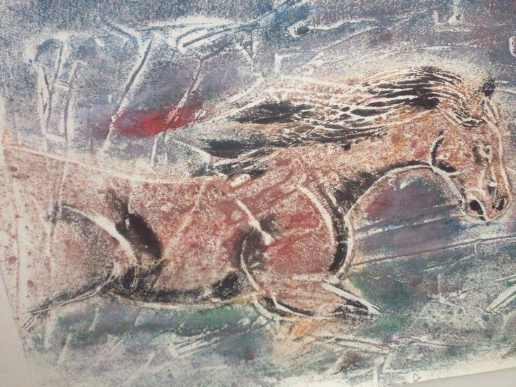 Cave Horse inspired by the cave paintings at Lascaux France - Max Streeter