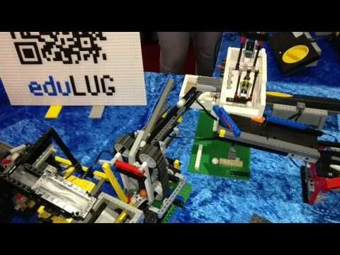 LEGO Great Ball Contraption circuit in Deutsches Museum Bonn 2017 - YouTube. New one at 4:30.