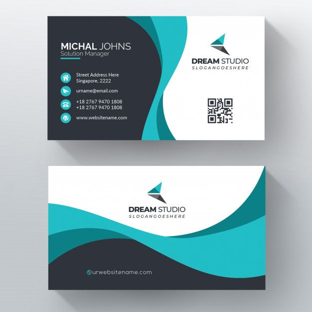 Elegant Visit Card Illustration Free Vector Free Vector Visiting Cards Modern Business Cards Design Visiting Card Design