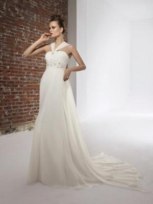 Noble Train Mermaid Maternity Wedding Dress