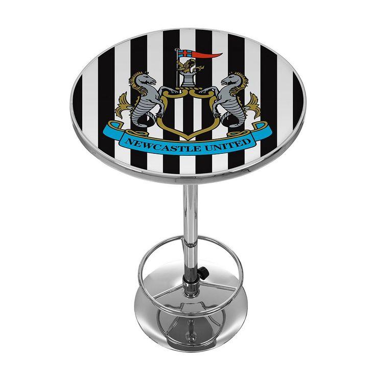 Newcastle United FC Chrome Pub Table, Black