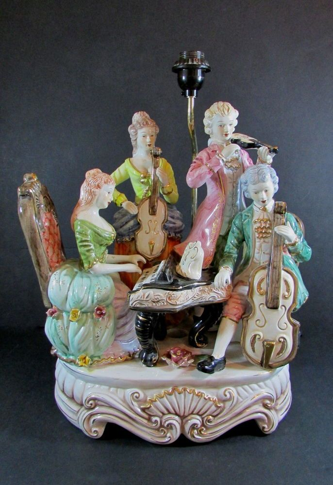 Very Large Vintage Capodimonte Dresden Style Musical Group