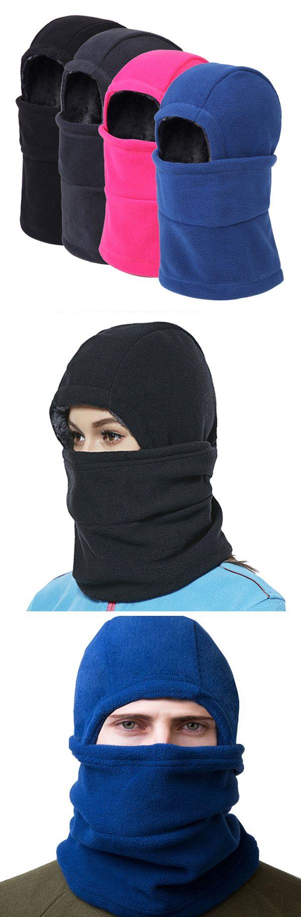 Men&Women Warm Head&Face&Ears Windproof Fleece Beanies Cap #outdoors #outfits
